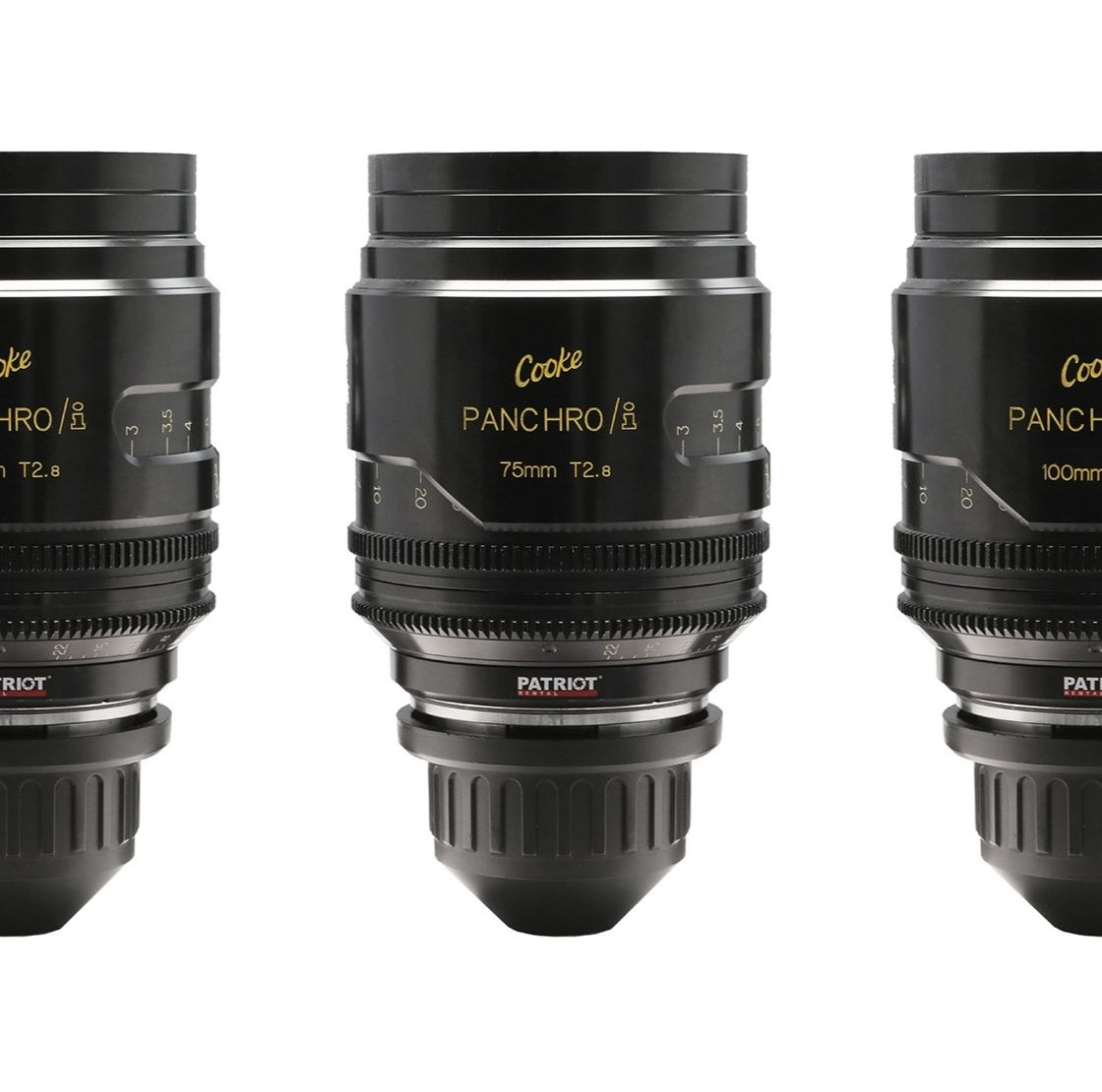 SET COOKE Mini S4 Lenses T2.8 18,25,32,50,75,100mm UNCOATED