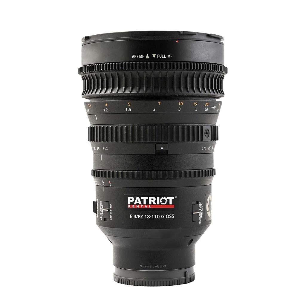 SONY Zoom 18-110mm Lens f/4 PZ G OSS