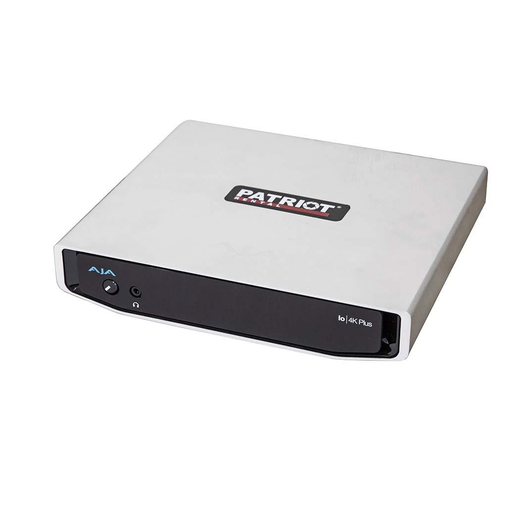 AJA 4K Plus Portable 4K/UHD and HD/SD capture and playback across Thunderbolt™ 3
