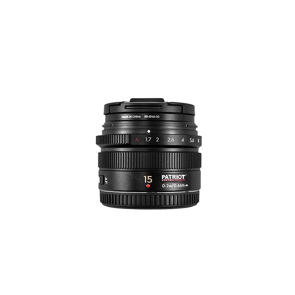 15mm Panasonic Lumix G Leica lens f/1.7 Black