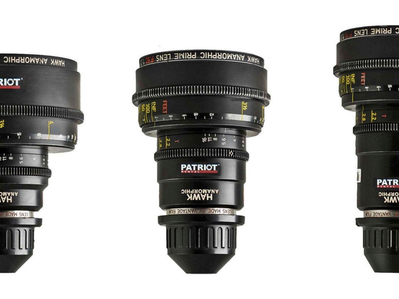 SET HAWK C-SERIES ANAMORPHIC Lenses T2.2-3.6 PL 35,50,75,100,135mm