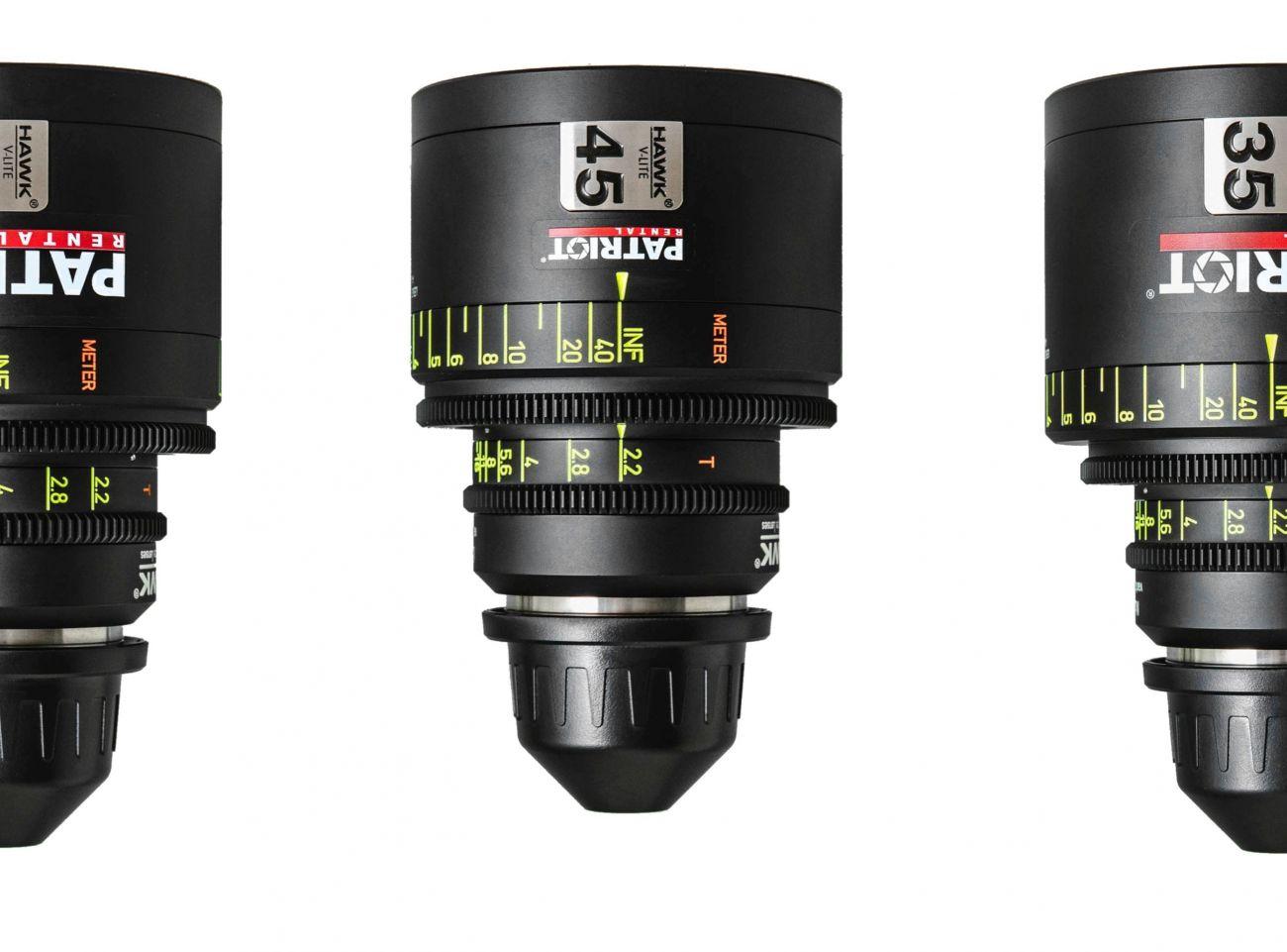 SET HAWK V-LITE ANAMORPHIC Lenses T2.2-3 PL 35,55,80,110mm