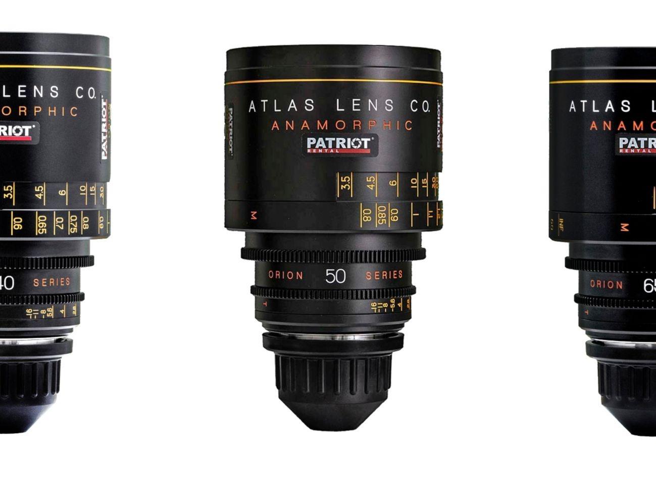 SET ORION ATLAS SERIES ANAMORPHIC 2x Lenses T2.0 32,40,50,65,80,100mm