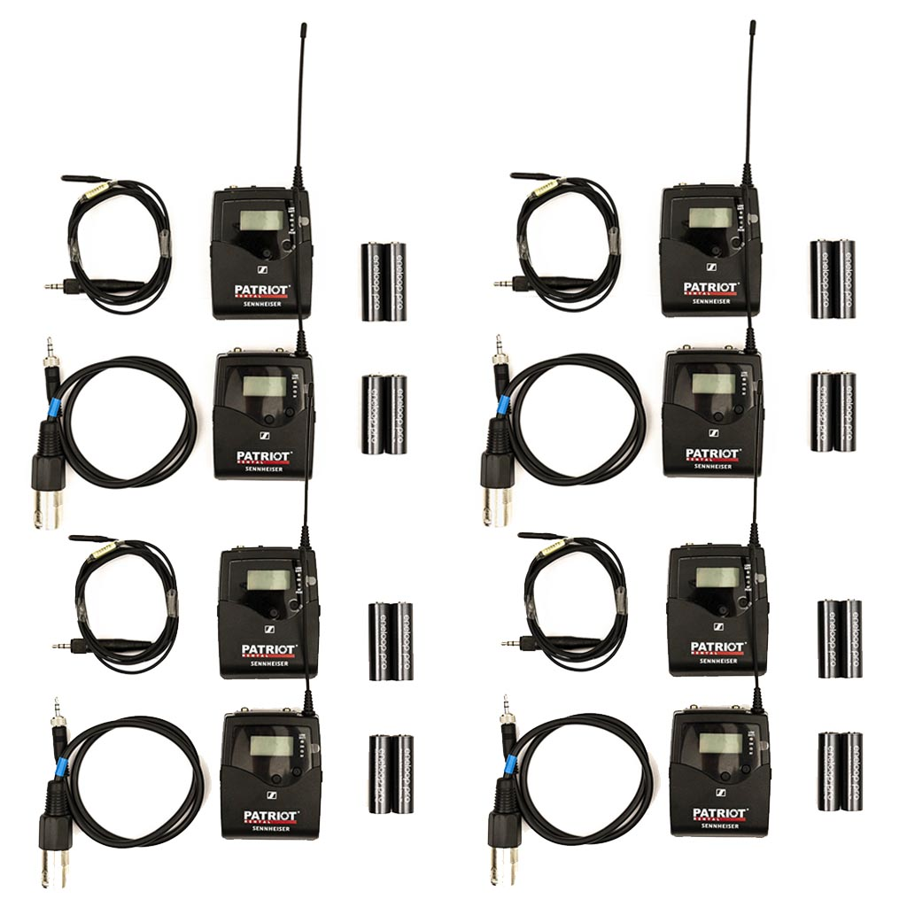 4x EW 512P G4 (558-625 MHz) Sennheiser Wireless Bodypack MOBILE SET