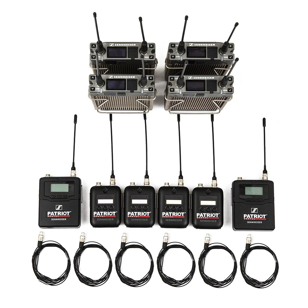 6x EW 6000 (550-638 MHz) digital Sennheiser Wireless Bodypack MOBILE SET