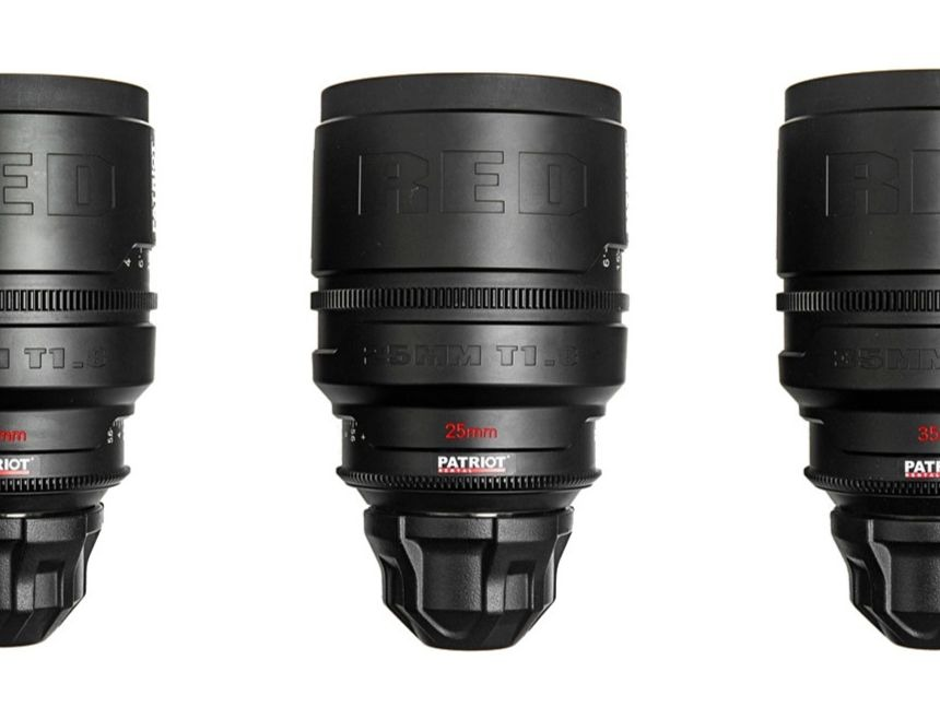 SET RED PRO PRIME Lenses T1.8 18,25,35,50,85,100mm