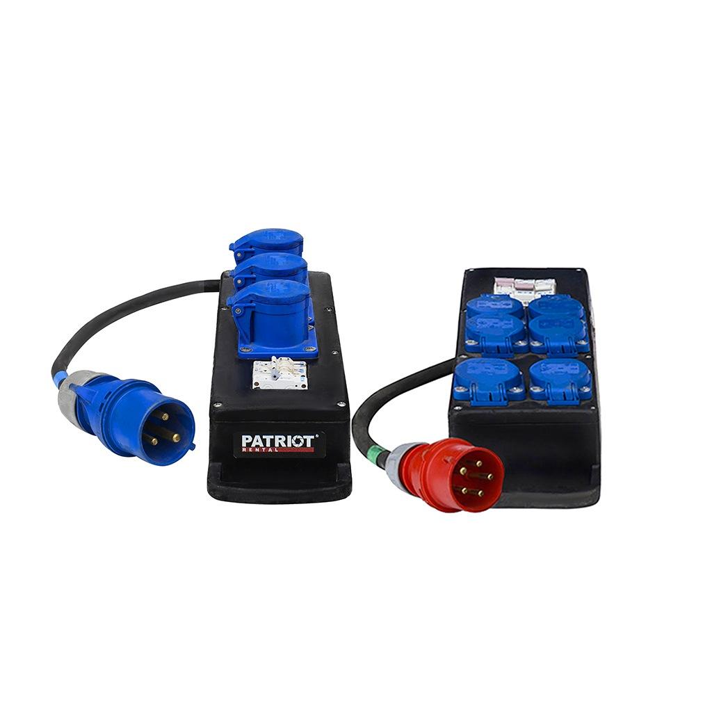 Power Distro Boxes Small  63A/380V & 220V