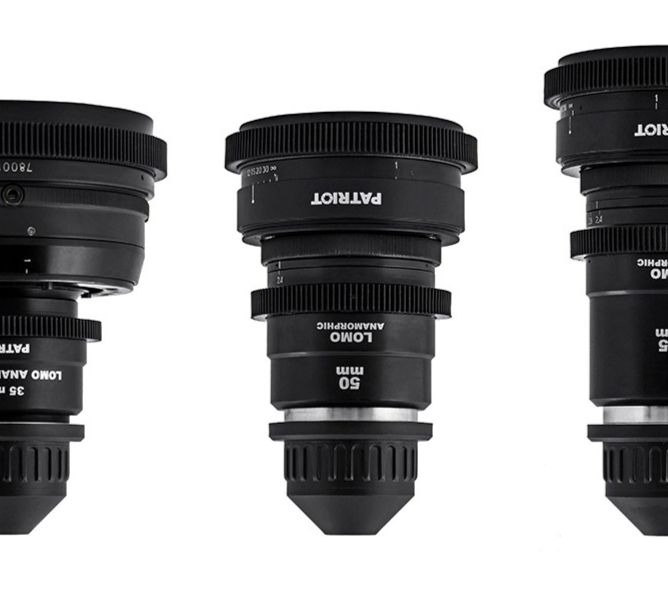 SET LOMO ANAMORPHIC 2x Lenses T2.4-2.5 35,50,75mm