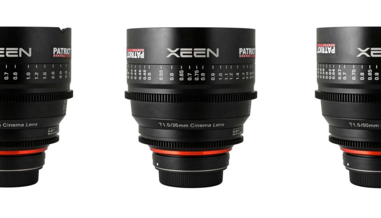 SET ROKINON XEEN CINE lenses T1.5-3.1 14,24,35,50,85,135mm