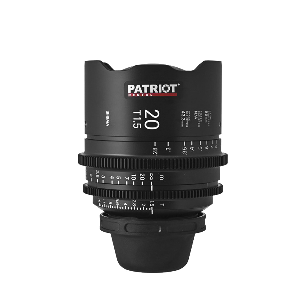 20 mm Sigma FF High-Speed Art Prime Lens T1.5