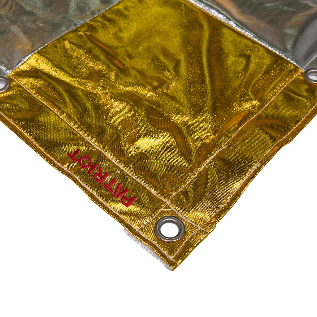 20×20 textile CHECKERBOARD SILVER/GOLD