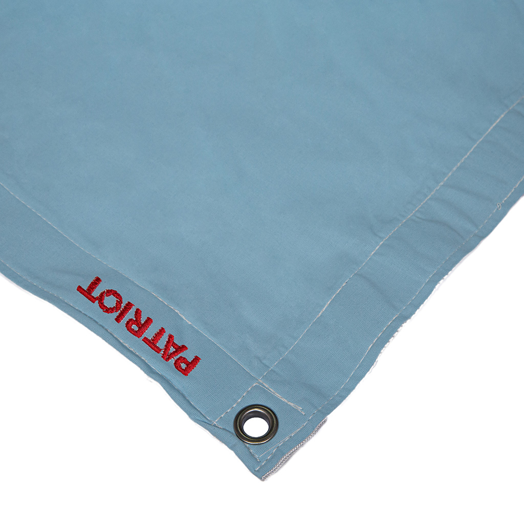 6×6 textile DAY BLUE MUSLIN